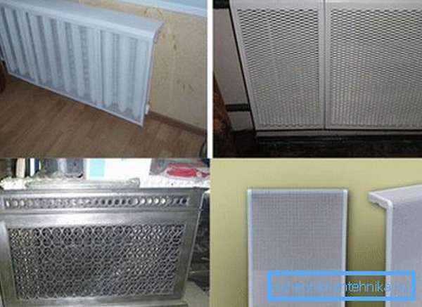 Экраны металлические для батарей отопления выступают в качестве декора и практического элемента