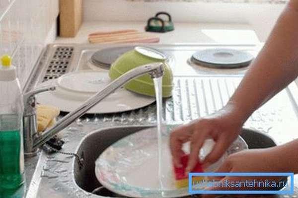 Эксплуатация краника на кухне