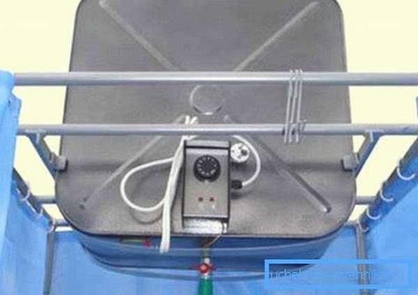 Электрический душ для дачи с термостатом.
