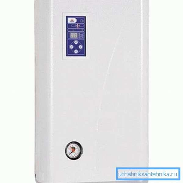 Электрокотел преобразует в тепло всю потребляемую электроэнергию.