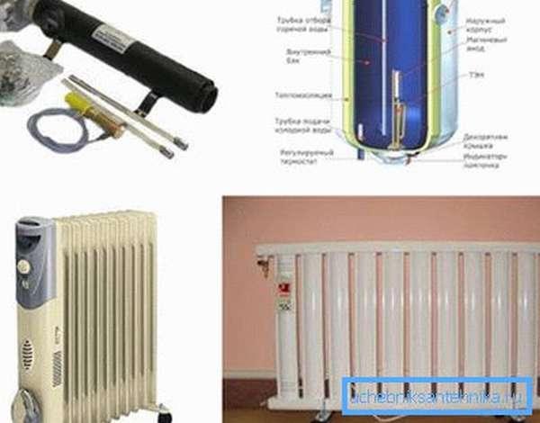 Электронагреватель для отопления – типы и размеры
