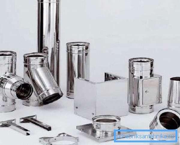 Элементы для устройства дымохода