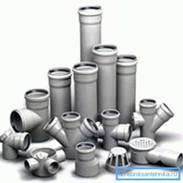 Элементы для внутренней канализации