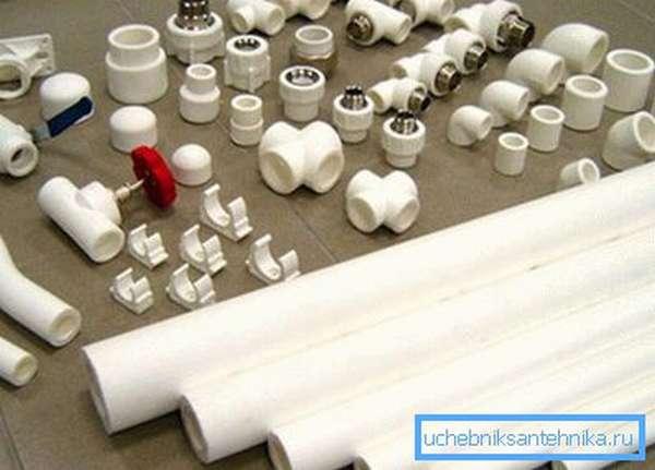 Элементы и комплектующие для отопления из полипропилена