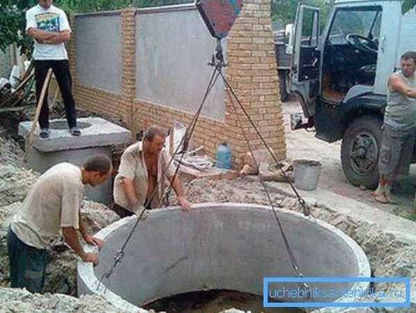 Емкость из бетонных колец