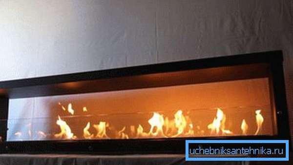 Если вам нравится вид открытого пламени, то такая система не оставит вас равнодушными