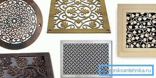 Эстетичные образцы вентиляционных решёток