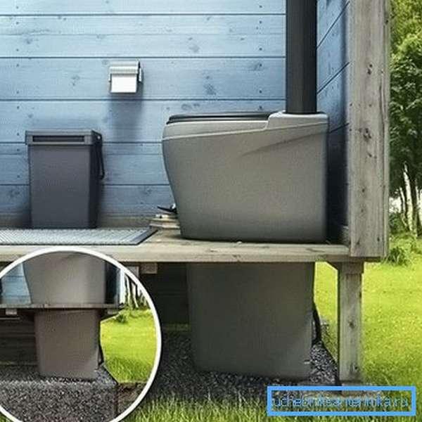 Этапы монтажа компостного биотуалета