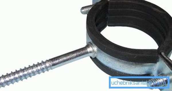 Это изделие позволяет жестко зафиксировать элемент стального водопровода.