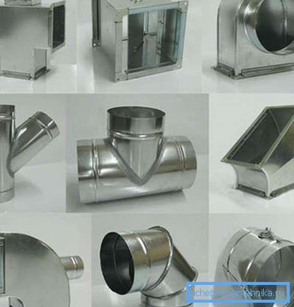 Фасонные детали для обустройства вентиляции