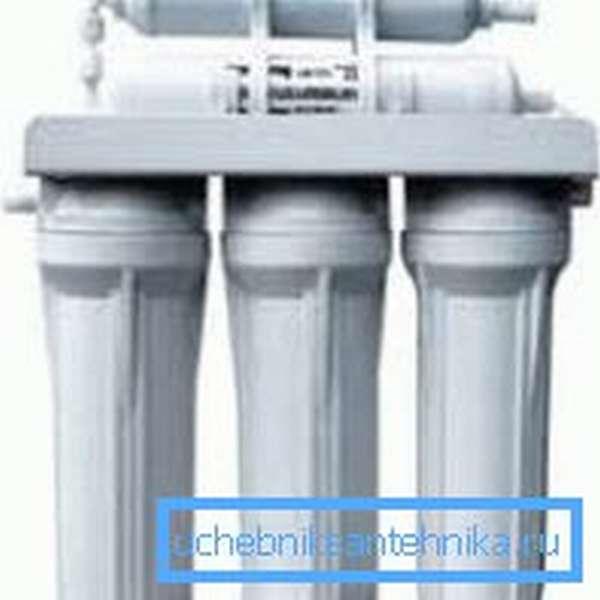 Фильтр для воды с тремя уровнями очистки