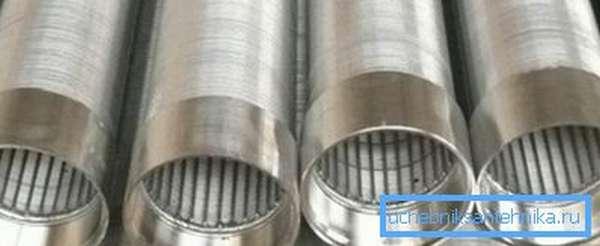 Фильтры для скважин проволочного типа