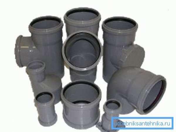 Фитинги для канализационной системы