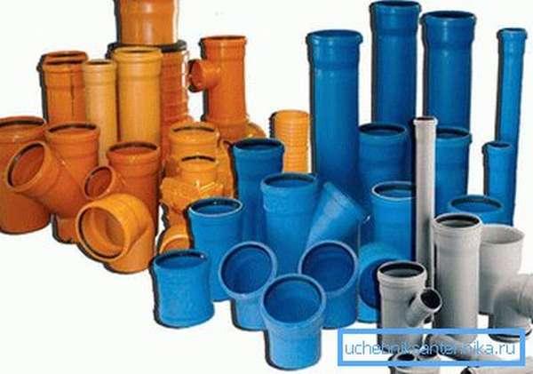 Фитинги для наружной и внутренней канализации
