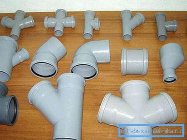 Фитинги для системы канализации из ПВХ