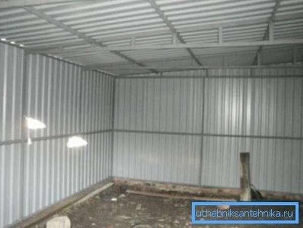 Фото гаража из профильных труб