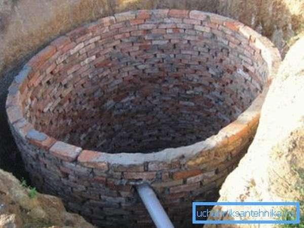 Фото кирпичного резервуара.