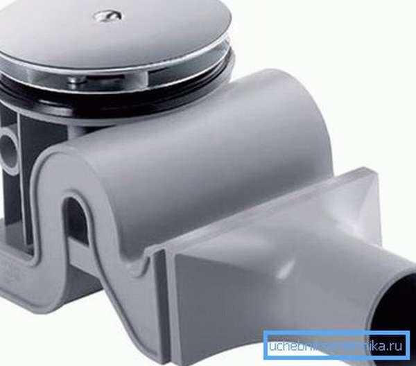 Фото компактной модели душевого сифона
