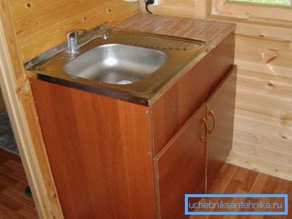 Фото кухонной мойки в дачном домике