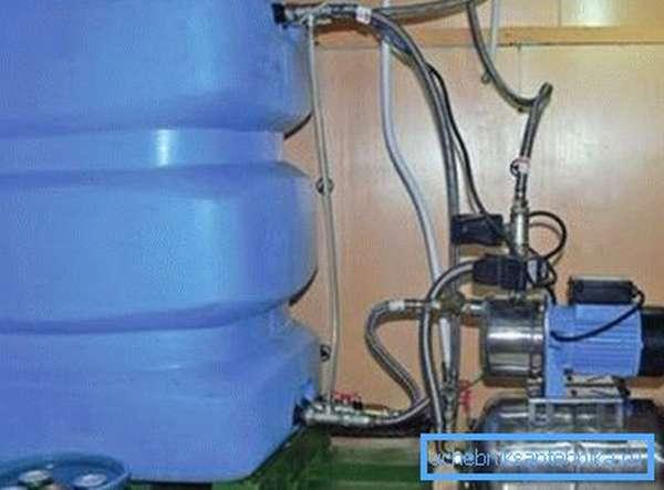 Фото насосной станции с гидроаккумулирующей емкостью
