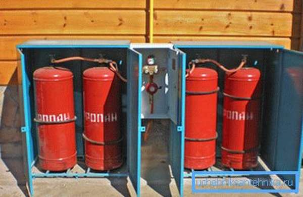 Фото подготовленных к использованию газовых баллонов