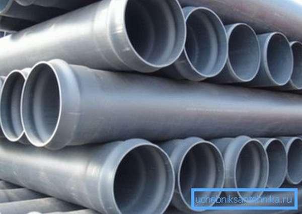 Фото ПВХ-труб для канализации