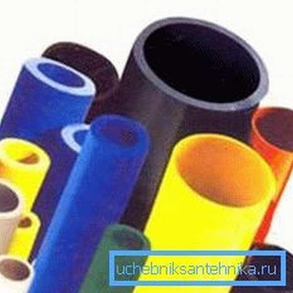 Фото различных видов пластиковых труб