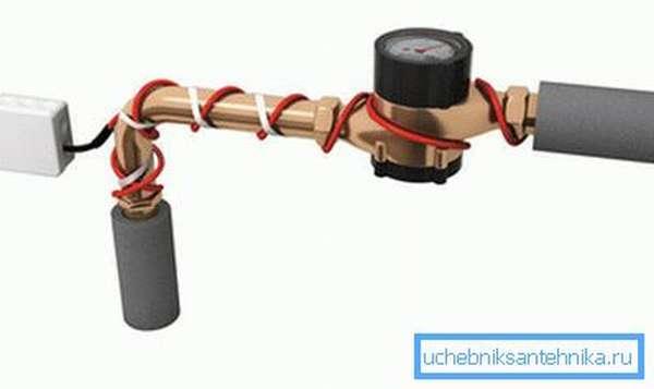 Фото утепленной трубы.
