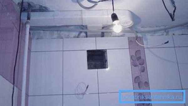 Фото вентиляционного отверстия в ванной комнате