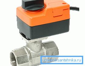 Фото запорной арматуры с электрическим приводом