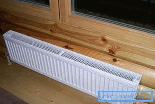 Фотонизкого теплообменника под окном