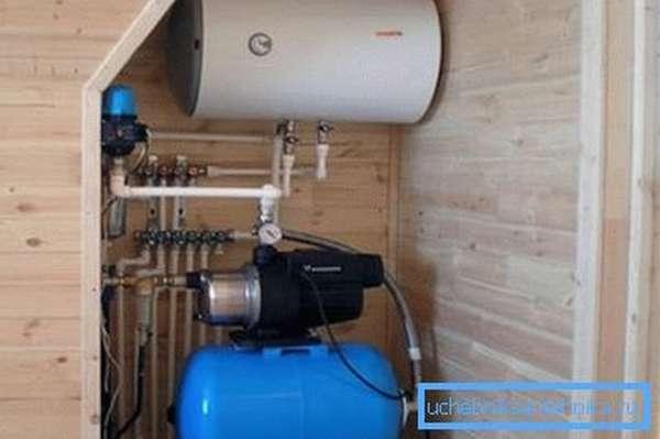 Фрагмент системы водоснабжения частного дома. Как любая другая инженерная система, эта нуждается в предварительных расчетах.