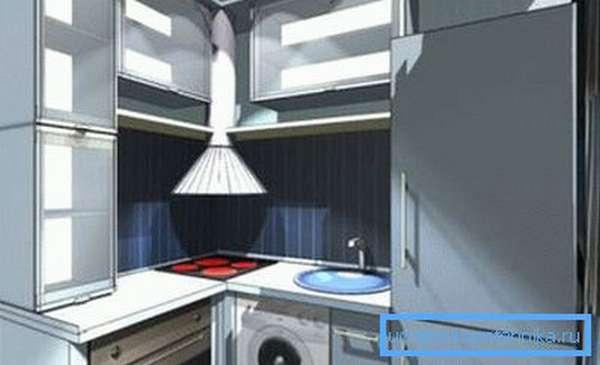 Фронтальная стиральная машина под мойку на кухню