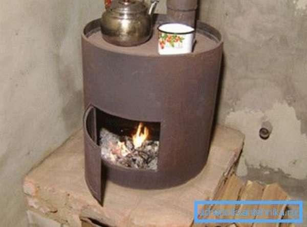 Гаражная печка на дровах из трубы своими руками