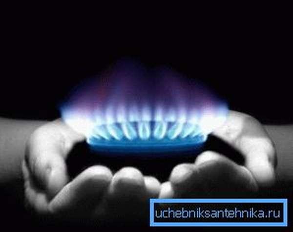 Газ чаще всего используется для отопления