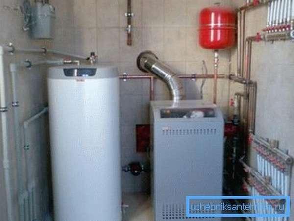 Газовое оборудование в котельной загородного дома