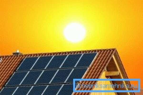 Гелиосистема не способна покрыть всю потребность дома в тепловой энергии