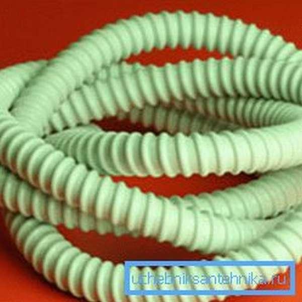 Гибкая армированная труба из поливинилхлорида для создания кабельных сетей
