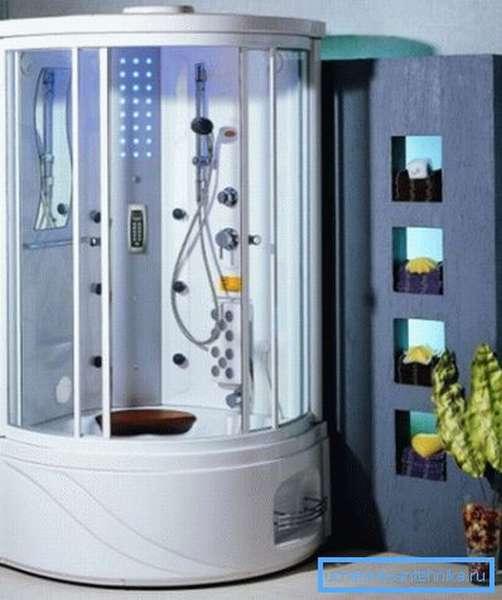 Гидромассажная кабина устанавливается быстро и достаточно просто.