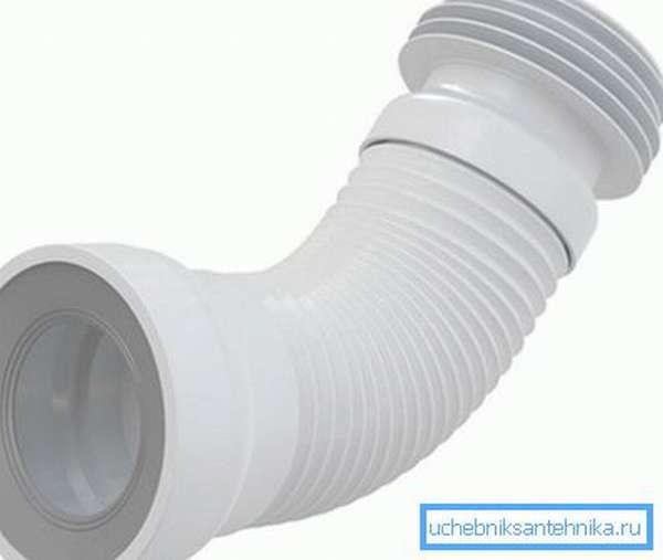 Гофра для соединения унитаза с канализацией
