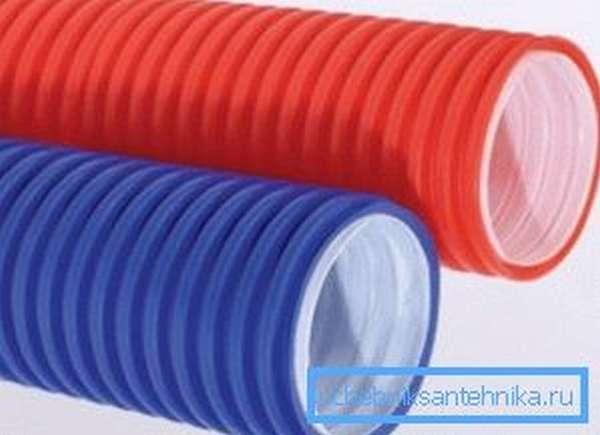 Гофрированная электротехническая труба для защиты кабельной продукции