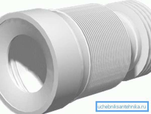 Гофрированная манжета для соединения с канализационной трубой