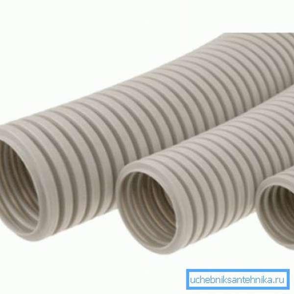 Гофрированная поливинилхлоридная труба