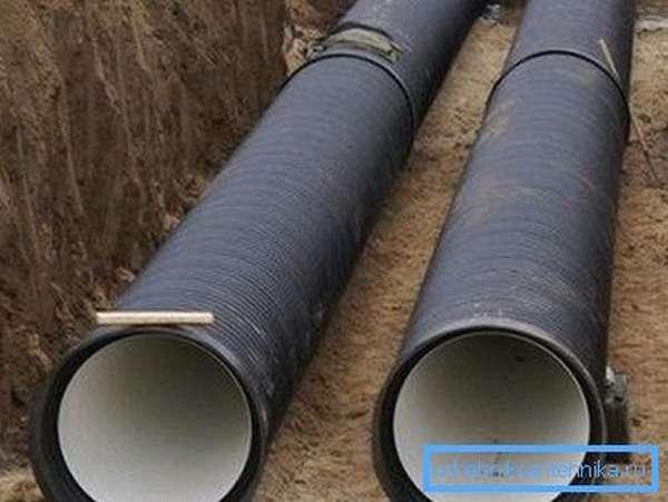 Гофрированные трубы для наружной канализации из ПВХ