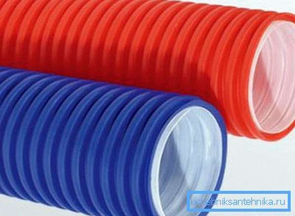 Гофрированные защитные трубы ПНД/ПВД (двухслойные)