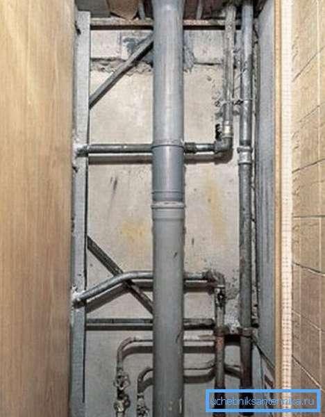 Готовая к использованию канализационная система.