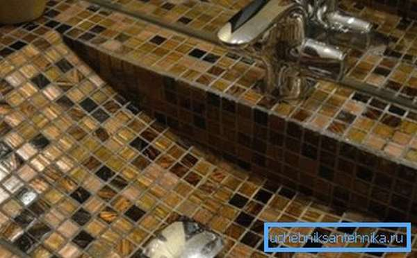 Готовая раковина из мозаики - своими руками созданная