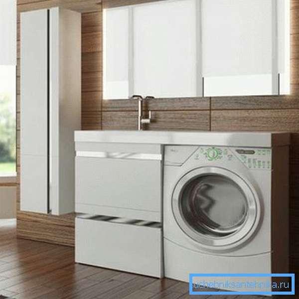 Готовая тумба для раковины и стиральной машины