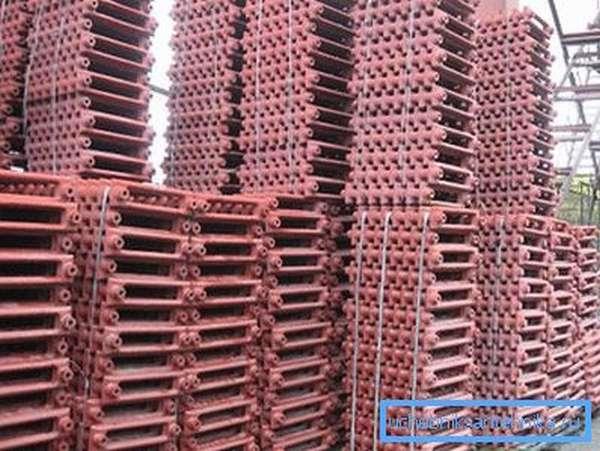 Готовые к продаже чугунные радиаторы МС-140