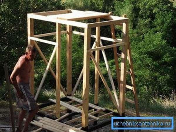 Готовый деревянный каркас